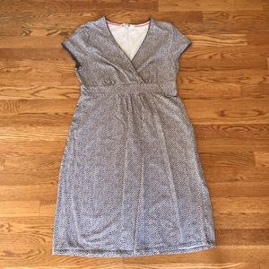 Grey Dot Boden Maternity Dress, Size 6
